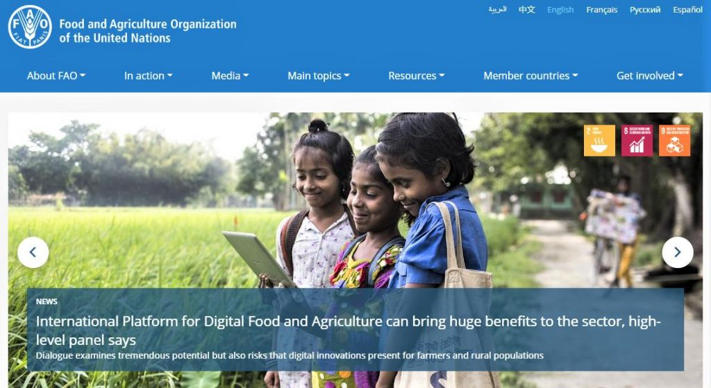 UN Food and Agricultural Organization – UNFAO