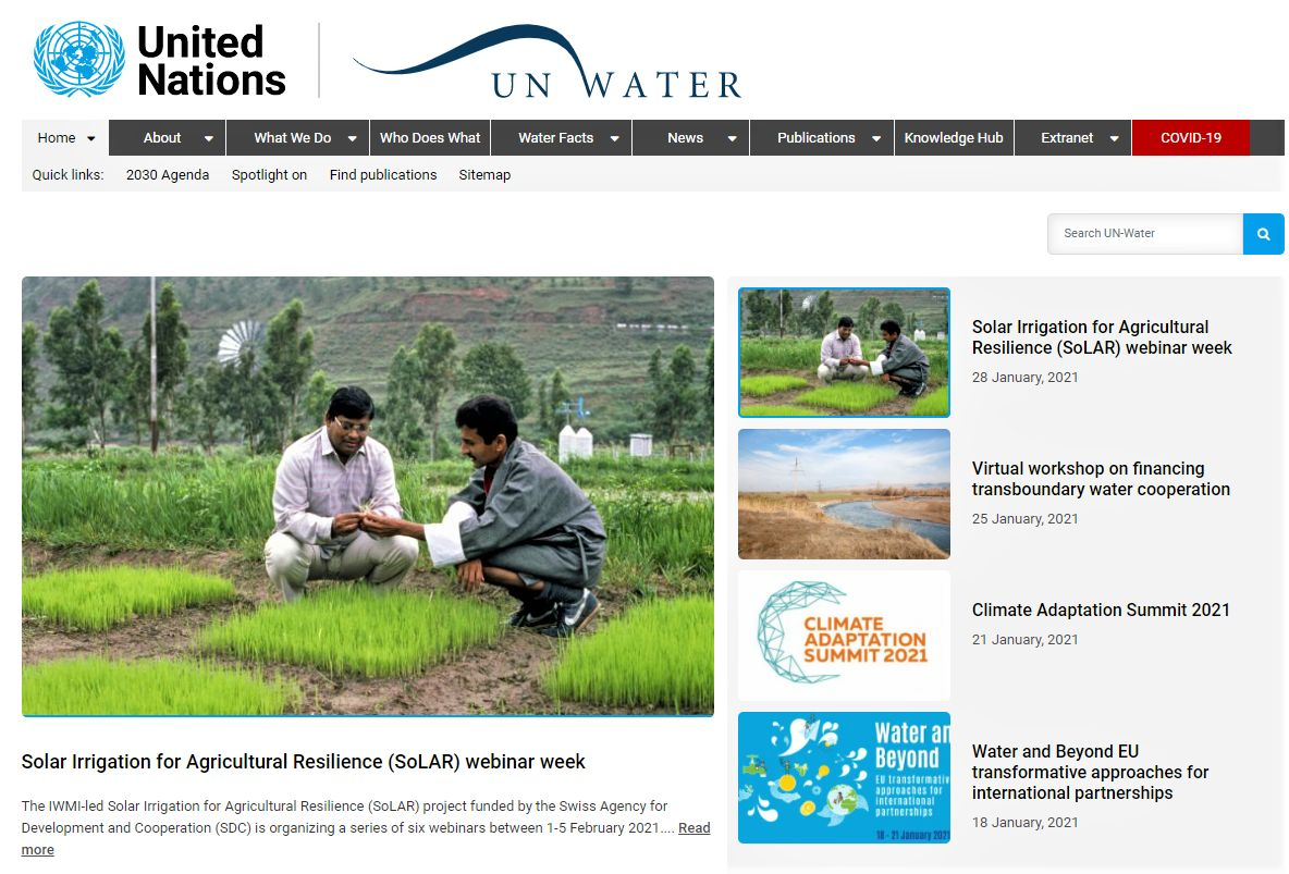 UN-Water: Global Partners in Water and Sanitation